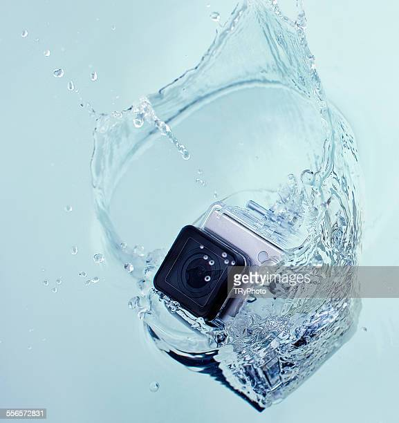 Action camera dropped to water
