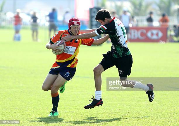 Action during the Etihad Airways Abu Dhabi Harlequins Junior Rugby Tournament as a record 236 teams competed this weekend which is one of the largest...