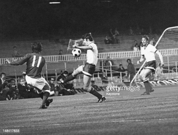 Action during the European Cup Winners' Cup final between FC Dynamo Moscow and Glasgow Rangers at Camp Nou Barcelona 24th May 1972 Rangers won the...