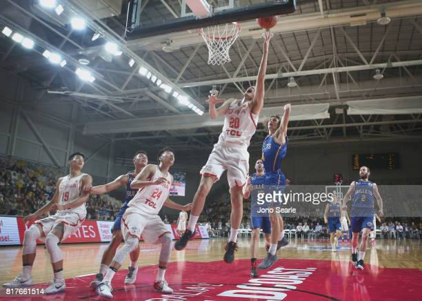 Action during the match between the Brisbane Bullets and China at the Gold Coast Sports Leisure Centre on July 18 2017 in Gold Coast Australia