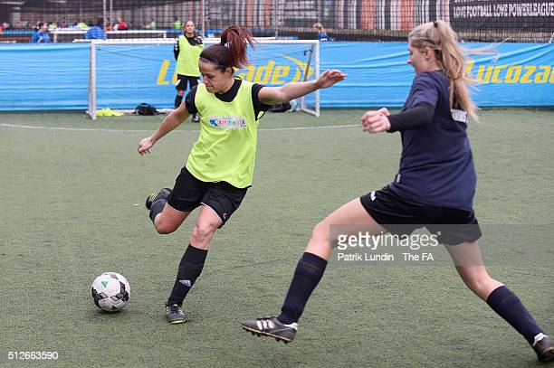 Action during the People's Cup SemiFinals London City on February 27 2016 in London England