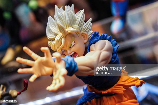 Action Figure of Goku by Dragon Ball Thousands of visitors to the twentyfirst edition of Turin Comics the fair that brings together fans of comics...
