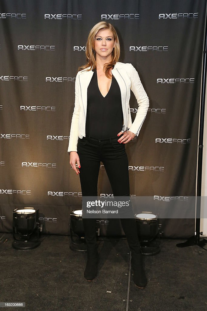 Action film star <a gi-track='captionPersonalityLinkClicked' href=/galleries/search?phrase=Adrianne+Palicki&family=editorial&specificpeople=632846 ng-click='$event.stopPropagation()'>Adrianne Palicki</a> attends the AXE Facescore event at Drive-In Studio on March 5, 2013 in New York City.
