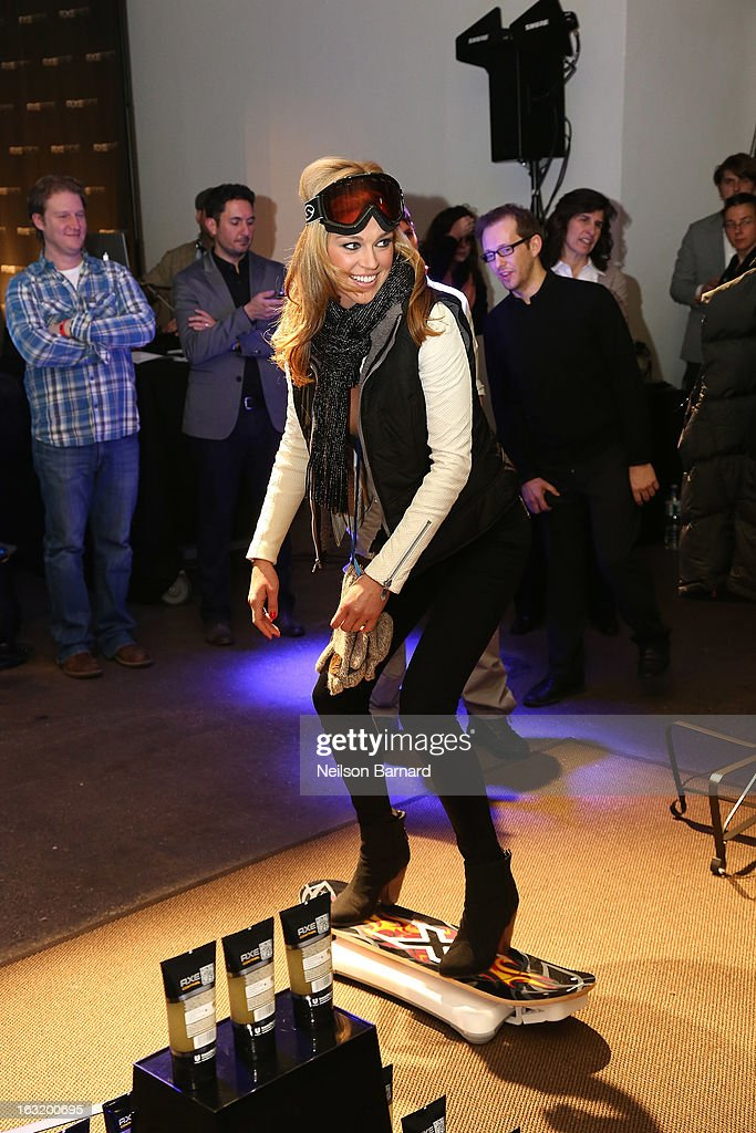 Action film star Adrianne Palicki attends the AXE Facescore event at Drive-In Studio on March 5, 2013 in New York City.
