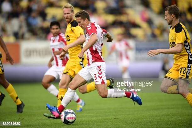 Action from the Danish Alka Superliga match between AC Horsens and AaB Aalborg at Casa Arena Horsens on August 18 2017 in Horsens Denmark