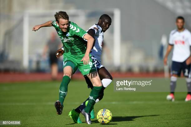 Action from the Danish Alka Superliga match between AGF Aarhus and OB Odense at Ceres Park on August 13 2017 in Aarhus Denmark