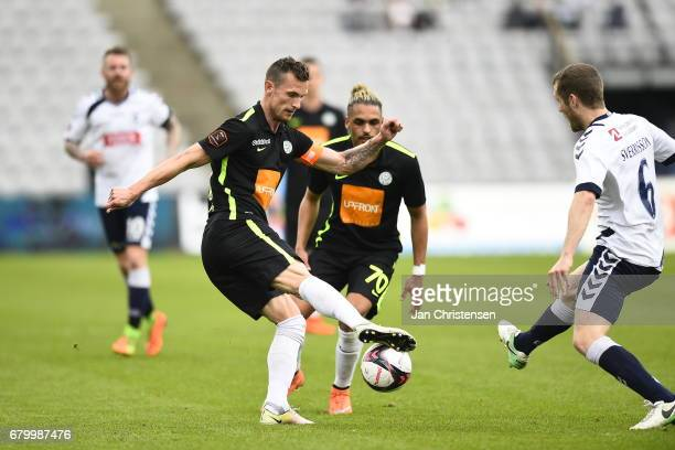 Action from the Danish Alka Superliga match between AGF Arhus and Viborg FF at Ceres Park on May 07 2017 in Arhus Denmark