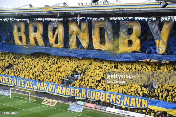 Action from the Danish Alka Superliga match between Brondby IF and FC Copenhagen at Brondby Stadion on April 17 2017 in Brondby Denmark