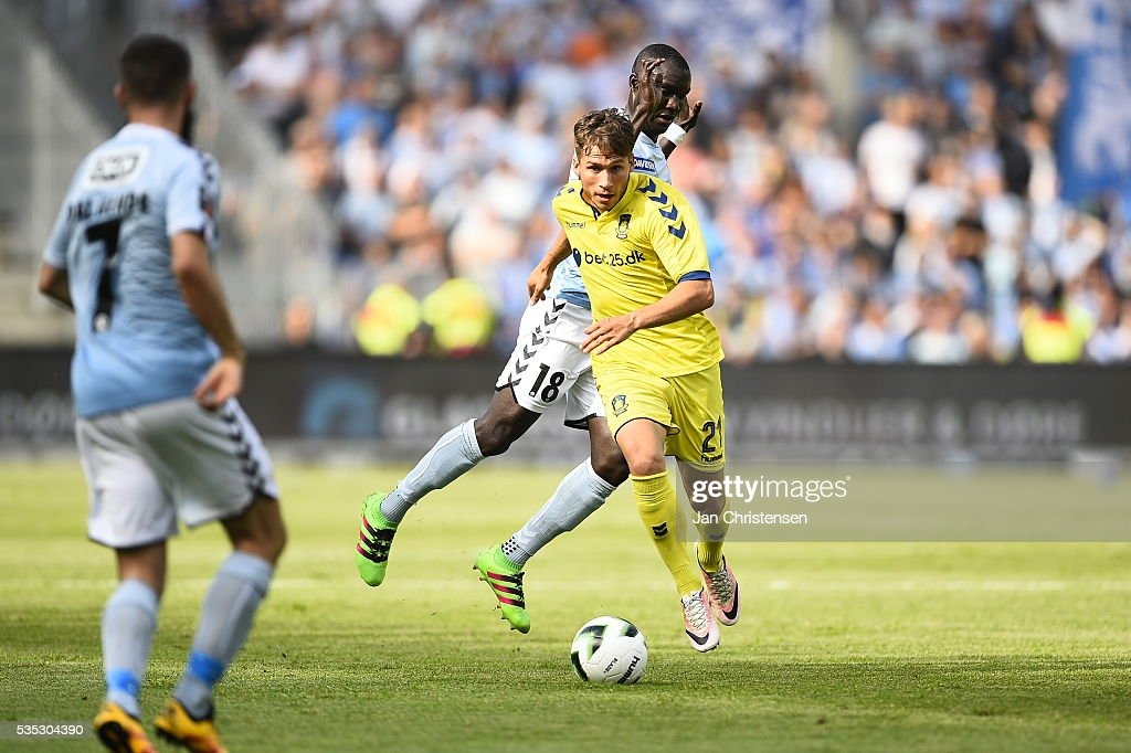 Action from the Danish Alka Superliga match between Brondby IF and SonderjyskE at Brondby Stadion on May 29, 2016 in Brondby, Denmark.