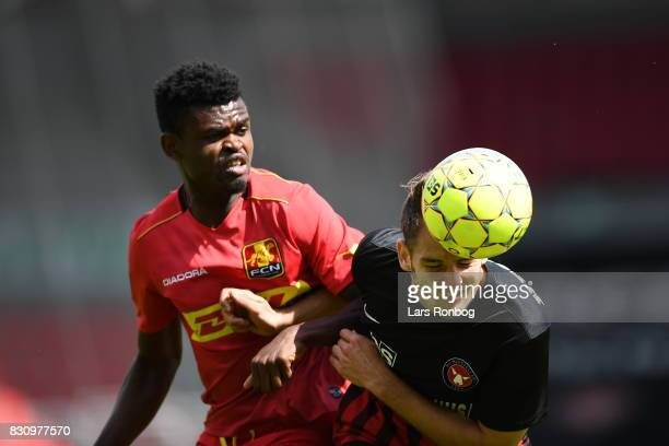 Action from the Danish Alka Superliga match between FC Midtjylland and FC Nordsjalland at MCH Arena on August 13 2017 in Herning Denmark