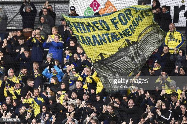 Action from the Danish Alka Superliga match between FC Nordsjalland and Brondby IF at Right to Dream Park on April 23 2017 in Farum Denmark