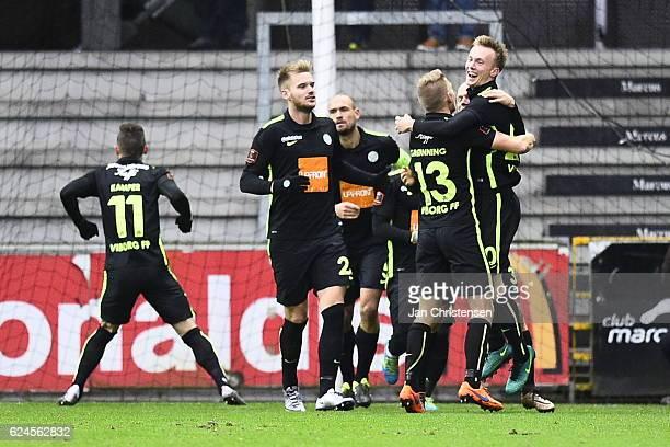 Action from the Danish Alka Superliga match between Randers FC and Viborg FF at BioNutria Park Randers on November 20 2016 in Randers Denmark