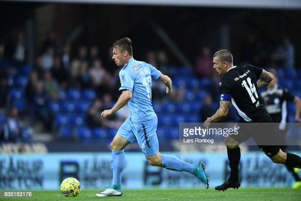 Action from the Danish Alka Superliga match between Randers FC and Silkeborg IF at BioNutria Park on August 18 2017 in Randers Denmark