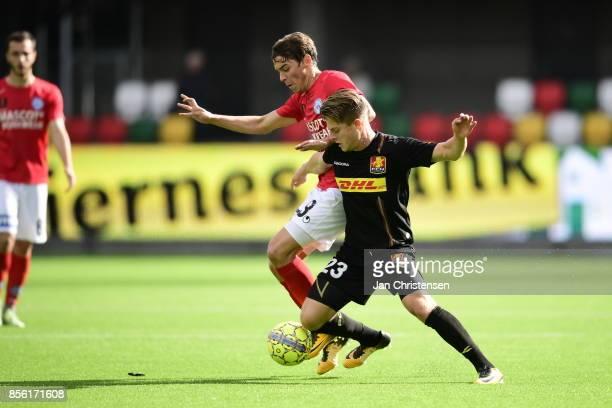 Action from the Danish Alka Superliga match between Silkeborg IF and FC Nordsjalland at JYSK Park on October 01 2017 in Silkeborg Denmark