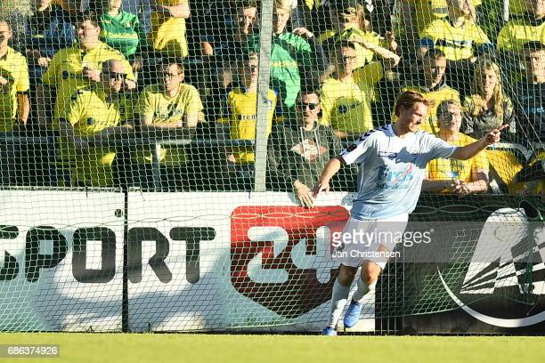 Action from the Danish Alka Superliga match between SonderjyskE and Brondby IF at Sydbank Park on May 21 2017 in Haderslev Denmark