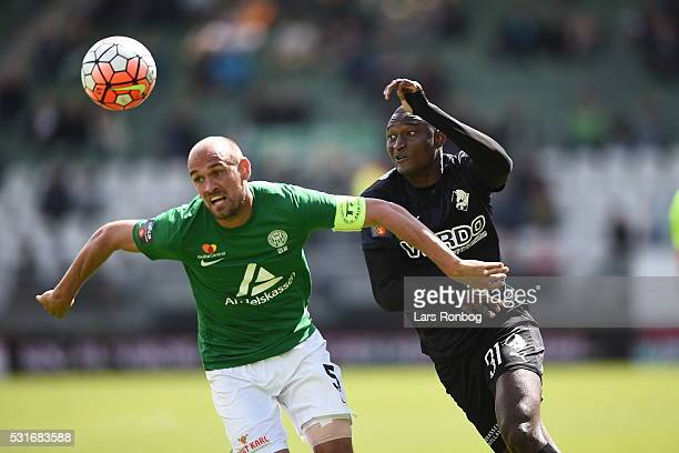 Action from the Danish Alka Superliga match between Viborg FF and Randers FC at Energi Viborg Arena on May 16 2016 in Viborg Denmark
