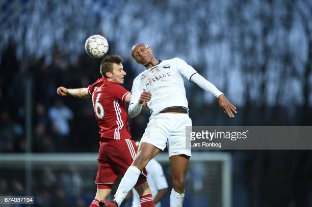 Action from the Danish cup DBU Pokalen semfinal match between Vendsyssel FF and FC Copenhagen at Bredband Nord Arena on April 27 2017 in Hjorring...