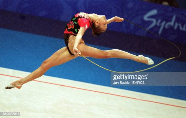 Action from the rhythmic gymnastics floor