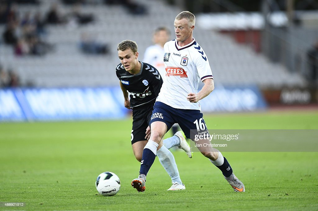 Action from the UEFA Europa League Group Play match between FC Midtjylland and Legia Warszawa at MCH Arena on September 17 2015 in Herning Denmark