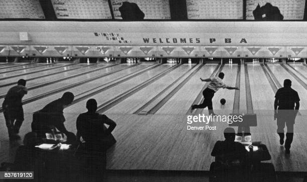Action in Silhouette sets the scene at celebrity sports center in proam Bowling Tournament Credit Denver Post
