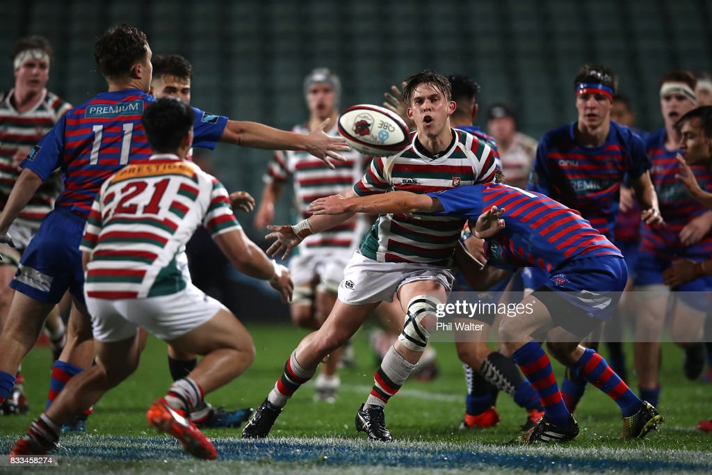 Action in the North Harbour First XV 1A Final between Westlake Boys Huigh School and Rosmini College at QBE Stadium on August 17, 2017 in Auckland, New Zealand.