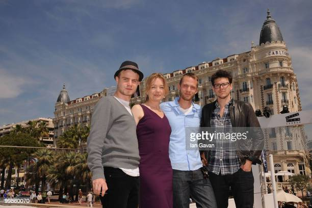 Actir Brady Corbet actress Karen Young actor David Call and Writer/Director Alistair Banks Griffin attend the 'Two Gates of Sleep' Photocall at the...
