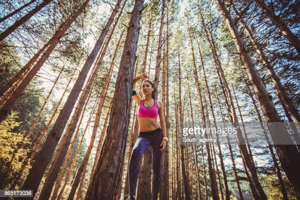 Active and sporty woman in nature