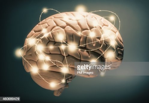 Active human brain : Foto de stock