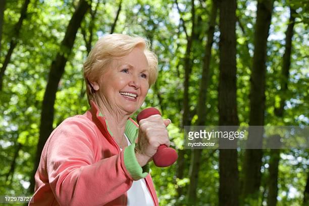 active senior jogging