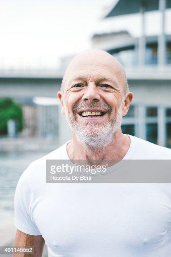 Active Senior Male Jogging