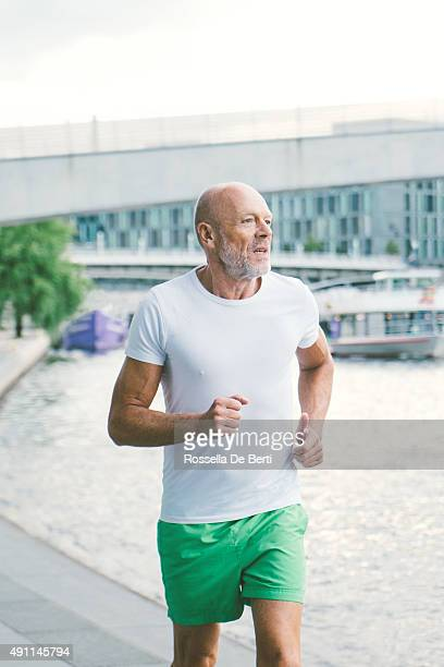 Active Senior Male Jogging