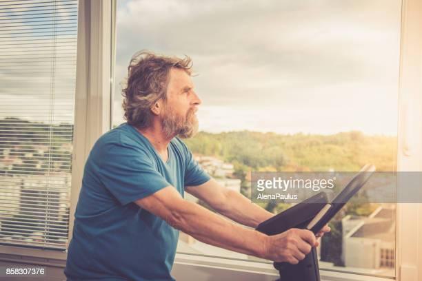 Active Senior Man at Home