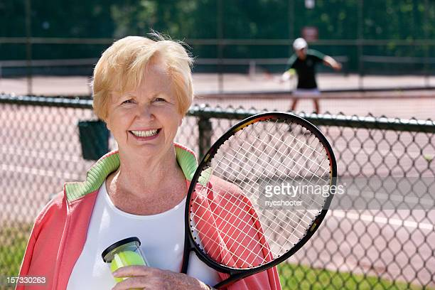 active senior tennis player