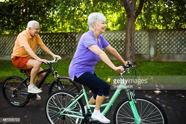 Active seniors biking