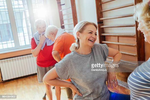 active seniors enjoying retirement