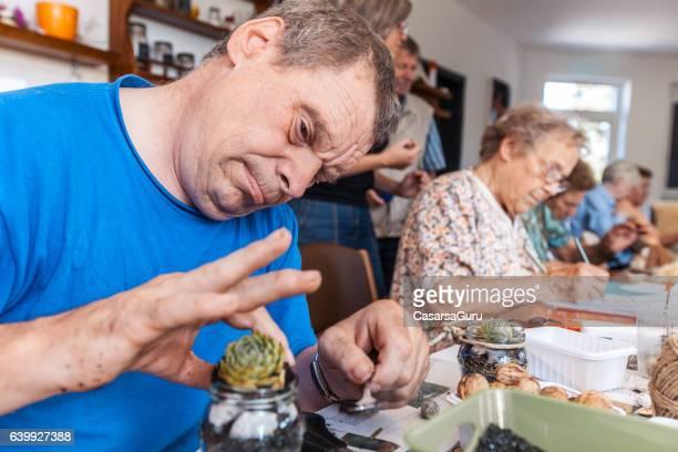 Active Seniors in an Elderly Daycare Center