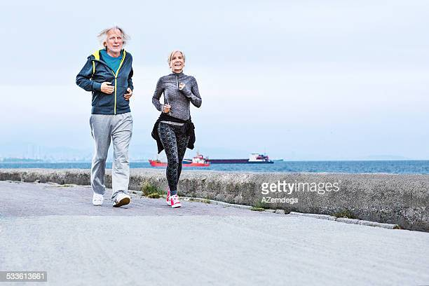 Active seniors running