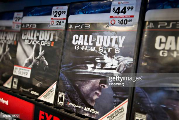 Activision Blizzard Inc 'Call of Duty' games sit on display at a GameStop Corp store in Peru Illinois US on Wednesday March 26 2014 GameStop Corp is...