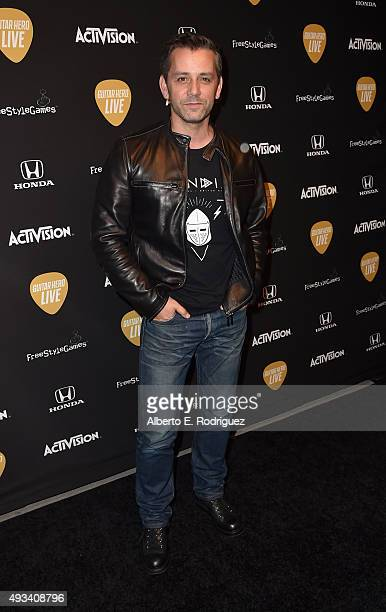 Activision CEO Eric Hirshberg attends the Guitar Hero Live Launch Party at YouTube Space LA on October 19 2015 in Los Angeles California