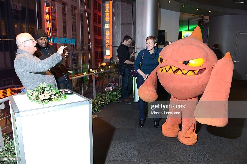 Activision Reveals Innovative Skylanders SWAP Force at Toy Fair Event at NASDAQ MarketSite on February 5, 2013 in New York City.