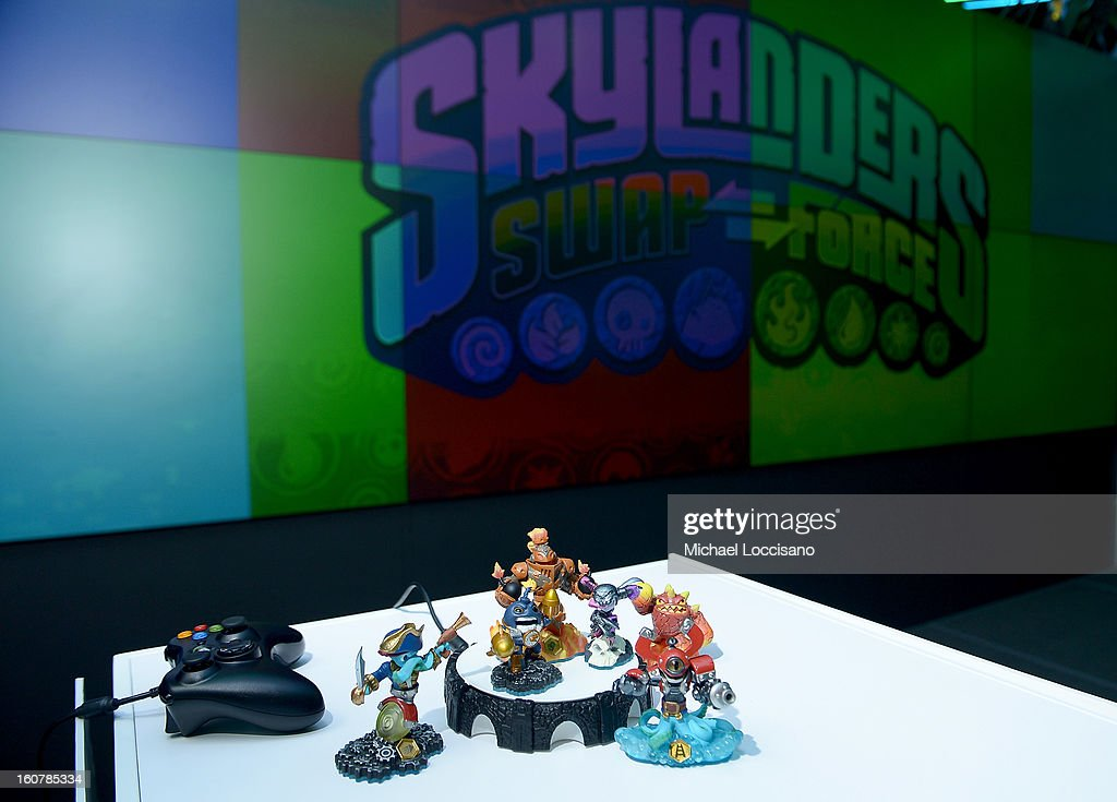Activision Reveals Innovative Skylanders SWAP Force at Toy Fair Event at NASDAQ MarketSite on February 5, 2013 in New York City.