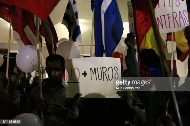 Activist and migrants of the Casa del Migrante de Ciudad Juarez and Comite de Solidaridad para los Migrantes Detenidos protest for the 5 death...