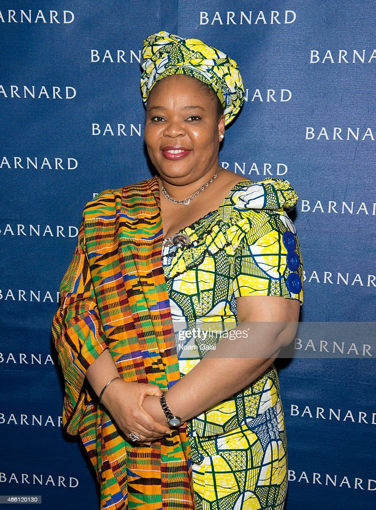 Activist and Nobel Peace Prize Winner Leymah Gbowee attends Barnard College's 7th Annual Global Symposium at Barnard College on March 13 2015 in New...