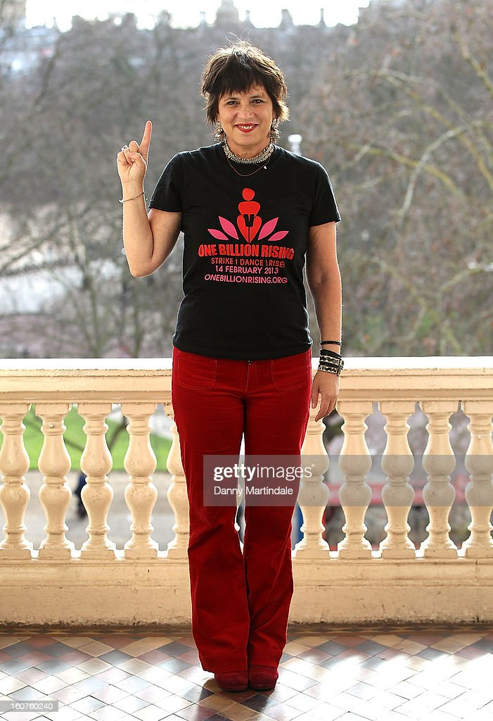 Activist and playwright Eve Ensler attends a photocall to promote One Billion Rising, a global movement aiming to end violence towards women at ICA on February 5, 2013 in London, England.