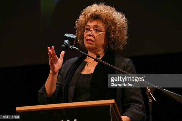 Activist Angela Davis attends the 28th Annual Brooklyn Tribute to Dr Martin Luther King Jr at BAM Howard Gilman Opera House on January 20 2014 in New...