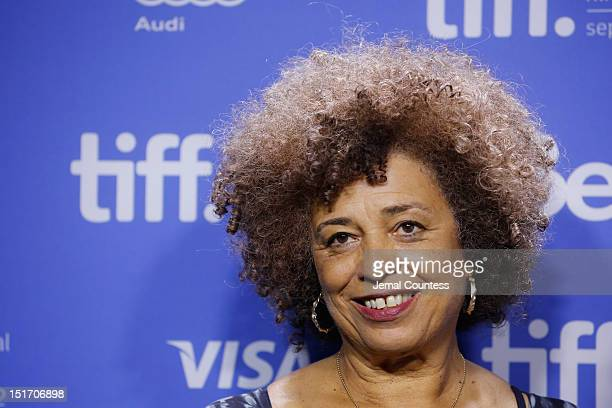 Activist Angela Davis attends the 'Free Angela All Political Prisoners' Photo Call during the 2012 Toronto International Film Festival at TIFF Bell...
