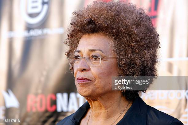 Activist Angela Davis attends the 'Free Angela and All Political Prisoners' New York Premiere at The Schomburg Center for Research in Black Culture...