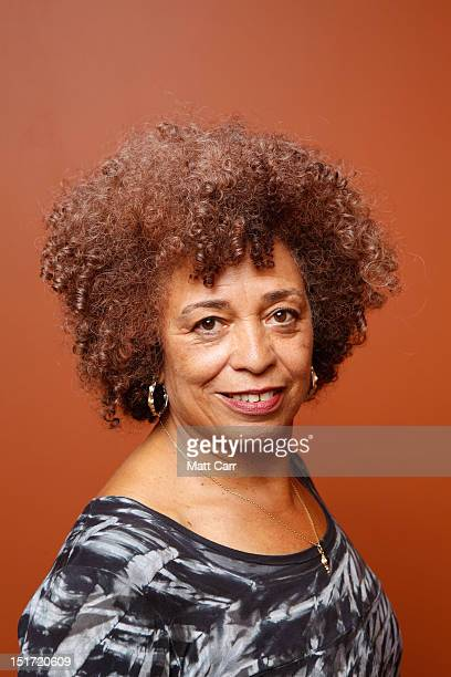 Activist Angela Davis of 'Free Angela All Political Prisoners' poses at the Guess Portrait Studio during 2012 Toronto International Film Festival on...