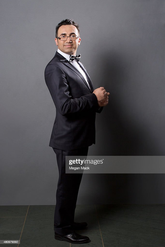 Activist Arsham Parsi poses for a portrait at the Logo TV's 'Trailblazers' at the Cathedral of St John the Divine on June 25 2015 in New York City