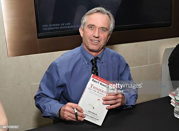 Activist/ author Robert F Kennedy Jr attends the New York City screening of 'Trace Amounts' at New York University School of Law Tishman Auditorium...
